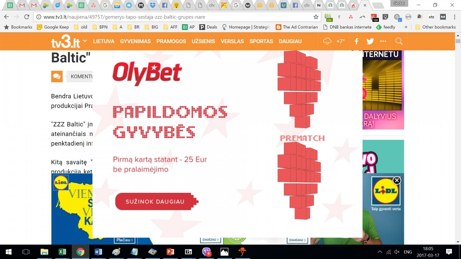 Lošimų reklama internete: taisyklės yra, bet kas nenori nesilaiko