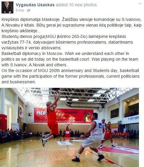 """Basketball diplomacy"" puts Lithuanian diplomat under fire"