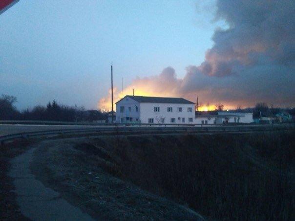 Из-за пожара наскладе боеприпасов вУкраинском государстве эвакуированы 20 000 человек